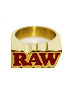 Anel de Ouro Raw 24k c/ Suporte Médio Size 10