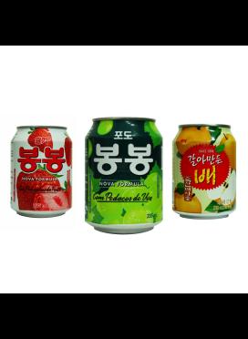 Suco importado Coreano, kit 3 sabores