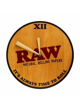 Relógio de Madeira Raw