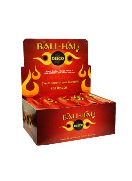 Caixa de Carvão Vegetal Bali-Hai Red 33mm - 100 discos