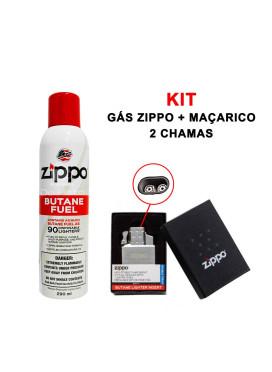 Kit Maçarico 2 Chamas + Recarga ZIPPO Original