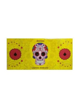 Seda Snail Calavera Mexicana Amarela King Size c/ Piteira