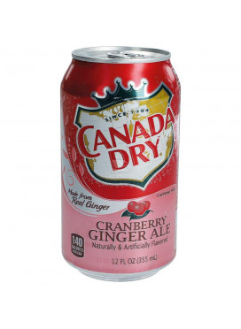 Refrigerante Canada Dry Cramberry Ginger Ale - EUA