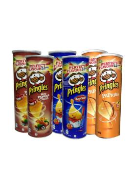 Kit de Batata Pringles 6 LATAS, 2 Katchup, 2 Paprika , 2 Hot Paprika