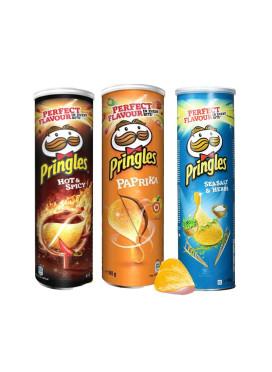 Kit Batata Pringles 3 uni - Hot & Spicy - Paprika - Seasalt & Herbs - IMPORTADAS