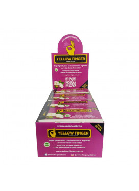 Caixa de Piteira de Papel Yellow Finger Double Cotton