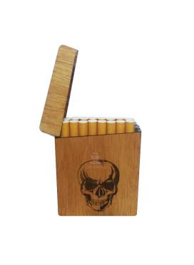 Cigarreira Wood Burning Caveira