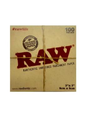 Papel p/ Extração Raw Parchment 8x8cm - 100 Folhas