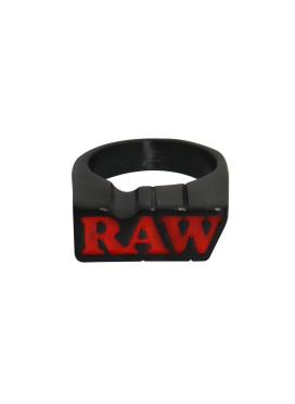 Anel Matte Black Raw c/ Suporte Médio Size 10