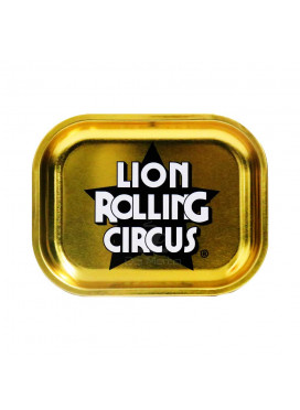 Bandeja Pequena Dourada Lion Rolling Circus
