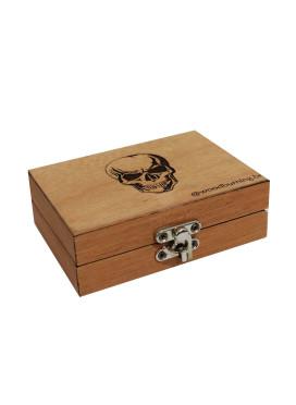 Box Wood Burning Skull