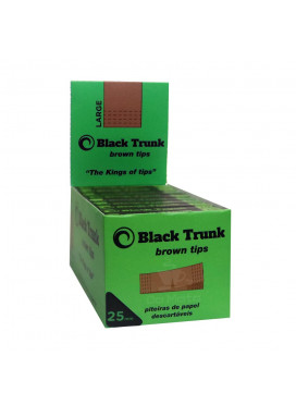 Caixa de Piteira de Papel Black Trunk Brown Tips 25mm