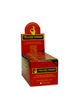Caixa de Piteira de Papel Yellow Finger Big Brown