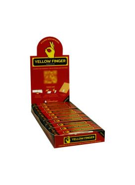 Caixa de Piteira de Papel Yellow Finger Brown Slim