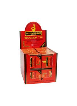 Caixa de Piteira Wooden Tip Long - Yellow Finger