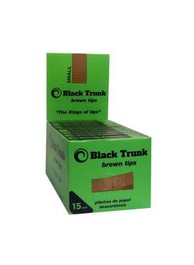 Caixa De Piteira De Papel Black Trunk Brown Tips 15mm