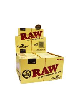Caixa de Seda Raw Connoisseur c/ Piteira