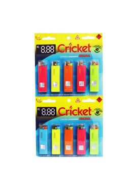 Cartela de Isqueiro Cricket Grande Neon