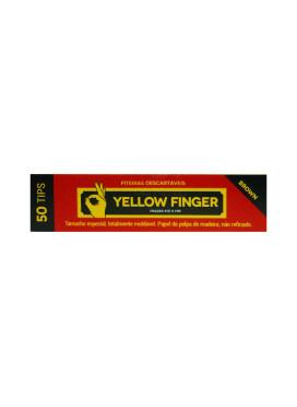 Piteira de Papel Yellow Finger Brown Slim