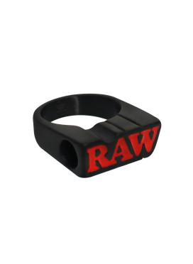 Anel Matte Black Raw c/ Suporte Grande Size 11