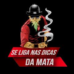 """Desenho de homem fumando, com dizeres: """"Se liga nas dicas da Mata"""""""